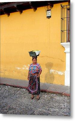 Guatemala Lady Metal Print