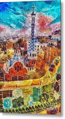 Guell Park Metal Print by Mo T