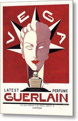 Guerlain 1940s Uk Guerlain   Vega Art Metal Print by The Advertising Archives
