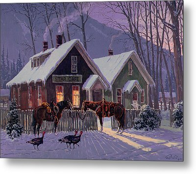 Guest For Dinner Metal Print by Randy Follis