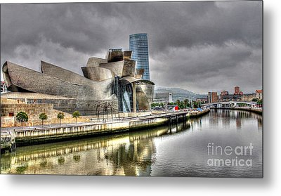 Guggenheim Museum Bilbao  Metal Print by Ines Bolasini
