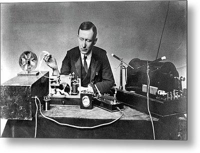 Guglielmo Marconi Metal Print by Universal History Archive/uig