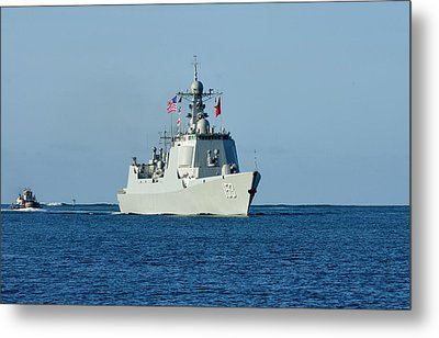 Guided-missile Destroyer Xian Metal Print