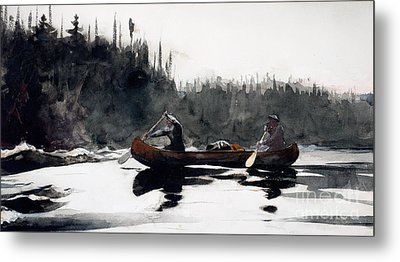 Guides Shooting Rapids Metal Print by Winslow Homer