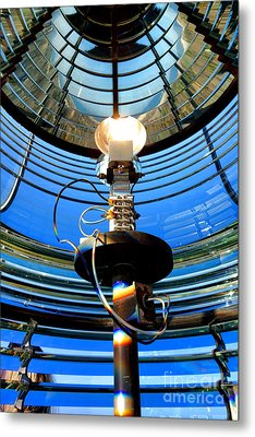 Guiding Light Metal Print by Olivier Le Queinec
