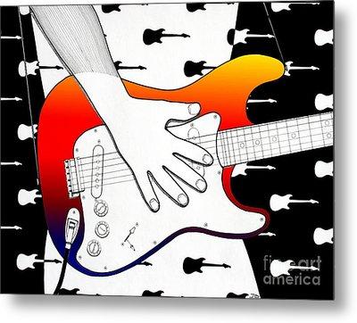 Guitar 1 Metal Print by Joseph J Stevens