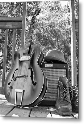 guitar and Boots Metal Print by Thomas Leon