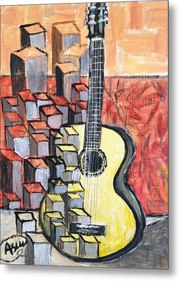 Guitar Metal Print by Asuncion Purnell