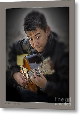 Guitar Boy Metal Print by Pedro L Gili