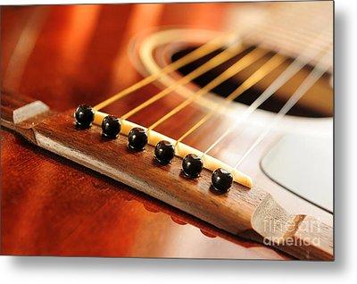 Guitar Bridge Metal Print by Elena Elisseeva