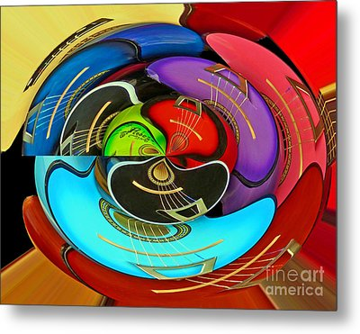 Metal Print featuring the photograph Guitar Circle by Cheryl Del Toro