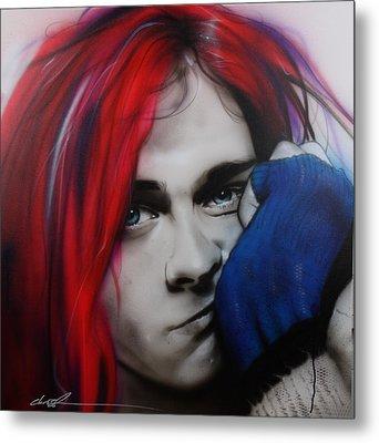 Kurt Cobain - ' Guitar Demolition ' Metal Print