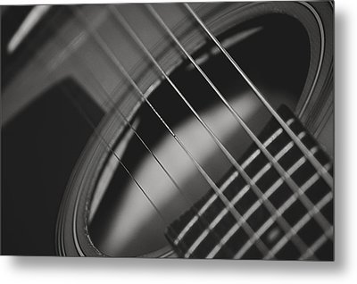Metal Print featuring the photograph Guitar Detail by Michael Donahue
