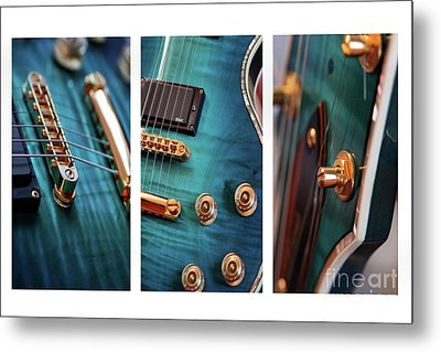 Metal Print featuring the photograph Guitar Life by Joy Watson