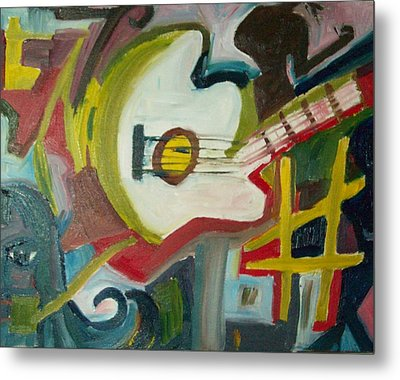 Guitar Muse In C Sharp Metal Print by James Christiansen