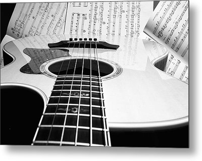Guitar Music Metal Print by Susan Stone