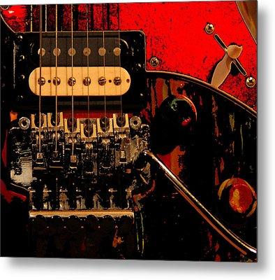 Metal Print featuring the photograph Guitar Pickup by John Stuart Webbstock