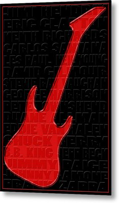 Guitar Players 1 Metal Print by Andrew Fare