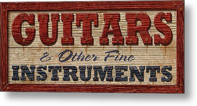 Guitar Sign Metal Print by WB Johnston