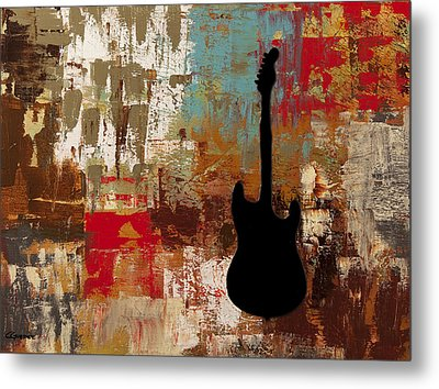 Guitar Solo Metal Print by Carmen Guedez