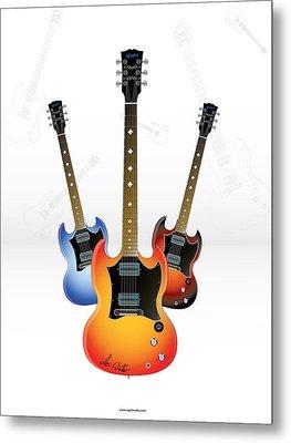 Guitar Style Metal Print