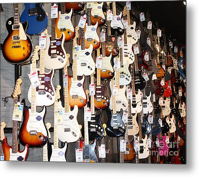 Guitar Wall Of Fame Metal Print by John Telfer