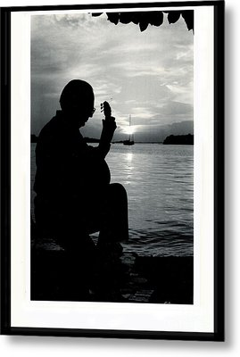 Guitarist By The Sea Metal Print by The Art of Alice Terrill