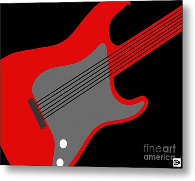 Metal Print featuring the digital art Guitarpop I by Andy Heavens