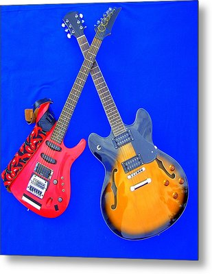 Double Heaven - Guitars At Rest Metal Print