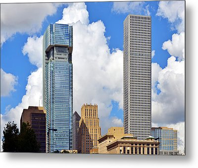 Gulf Building Houston Texas Metal Print by Christine Till