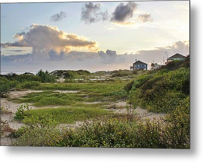 Gulf Coast Galveston Tx Metal Print by Christine Till