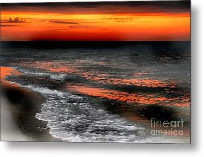 Gulf Coast Sunset Metal Print by Clare VanderVeen
