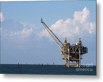 Gulf Oil Rig Metal Print