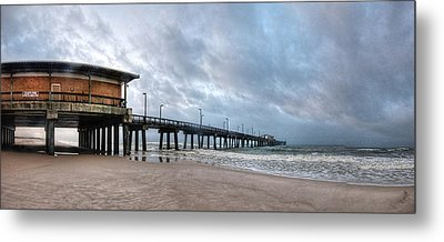 Metal Print featuring the digital art Gulf State Pier by Michael Thomas