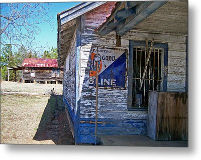 Gulf Store Metal Print by Larry Bishop