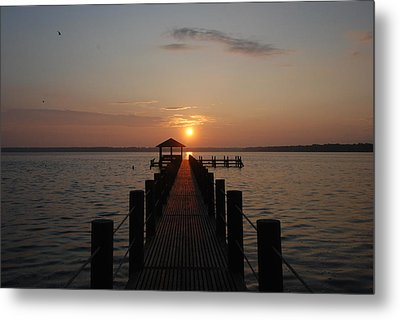 Gulf Sunrise 1 Metal Print