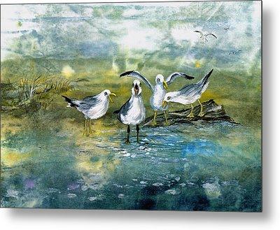 Gull Quartet Metal Print