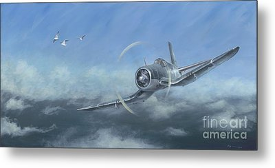 Metal Print featuring the painting Gull Wings by Stephen Roberson