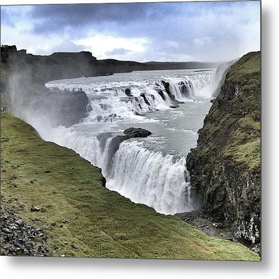 Gullfoss Falls Sw Iceland Metal Print by John Potts