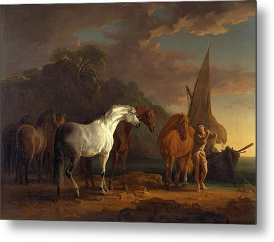 Gulliver Taking His Final Leave Of The Land Metal Print by Litz Collection