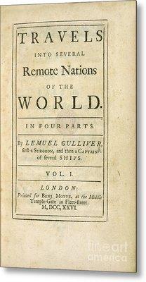 Gulliver's Travels (1726) Metal Print