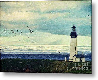Gulls Way Metal Print by Lianne Schneider