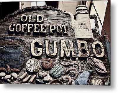 Gumbo Coffee Metal Print