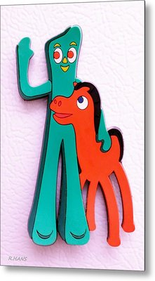 Gumby And Pokey B F F Metal Print
