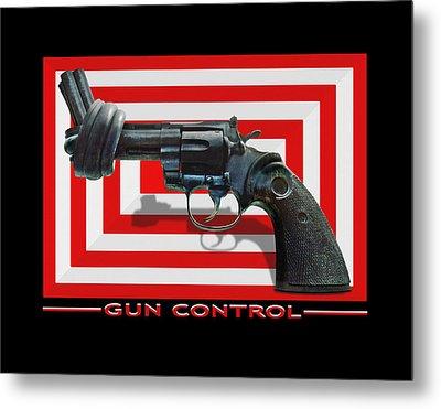 Gun Control Metal Print by Mike McGlothlen