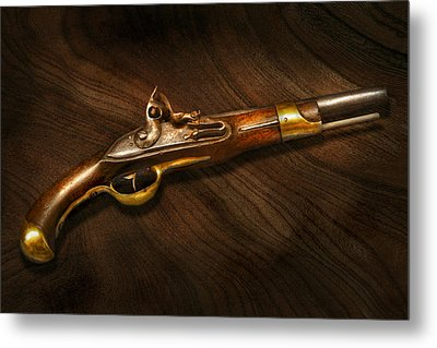 Gun - Pistols At Dawn Metal Print by Mike Savad