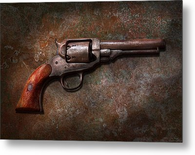 Gun - Police - Dance For Me Metal Print by Mike Savad