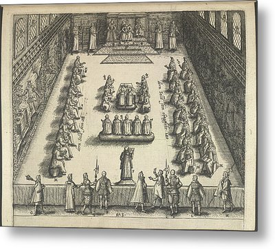 Gunpowder Plot Trial Metal Print by British Library