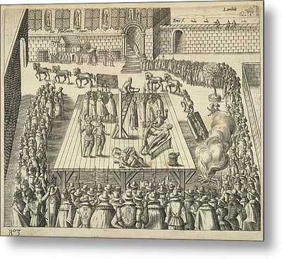 Gunpowder Plotters Executed Metal Print by British Library