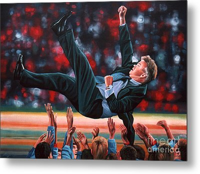 Guus Hiddink Metal Print